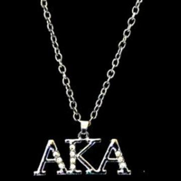 *AKA Letter Necklace - AKA Greek