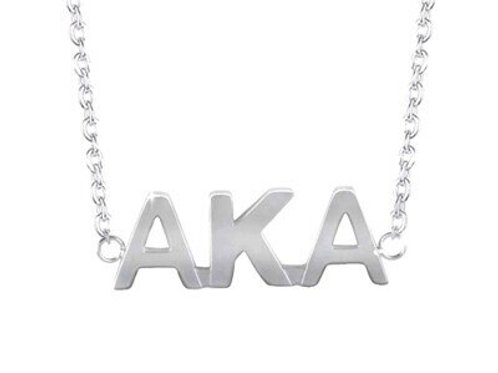 AKA Silver Letters Necklace