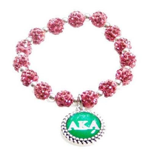 *AKA Pink Crystal Stretch Bracelet