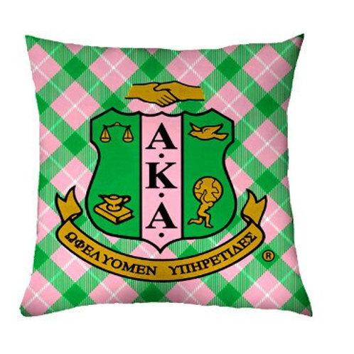 AKA Plaid Throw Pillow Cover & Insert