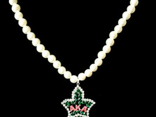 AKA Pearl Ivy Pendant Necklace