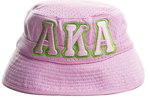 AKA Pink Bucket Cap Hat-AKA Greek