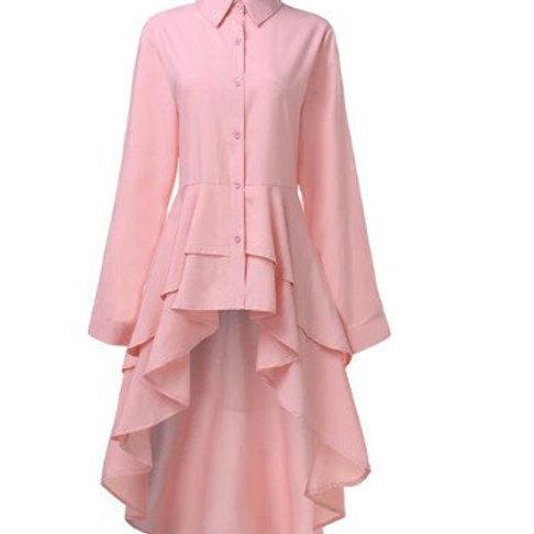 Pink Ruffle Hi-Lo Dress/Top