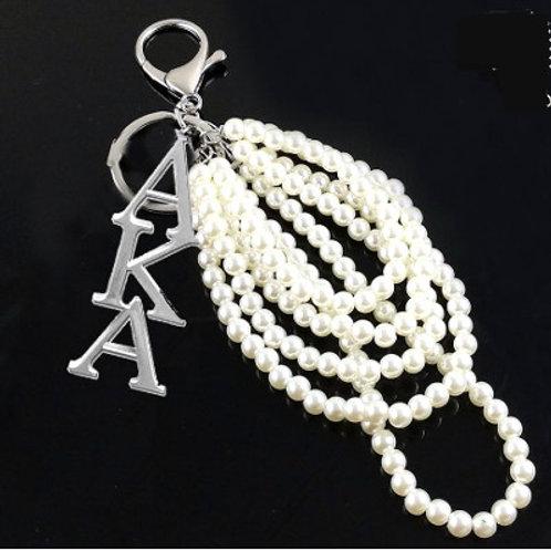 AKA Pendant Pearl Keychain