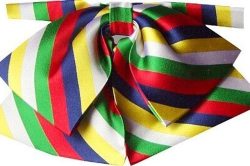 Green, red, blue, yellow, white stripes. OES colors