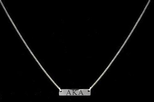 AKA Silver Bar Necklace