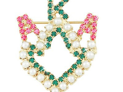 AKA Crystal Letters Ivy Brooch/Pin
