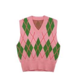Pink Green Vest Sweater 400