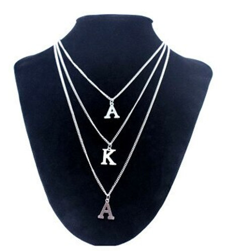 AKA Layered Letter Necklace