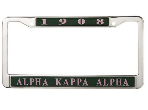 AKA Green Metal License Plate Frame