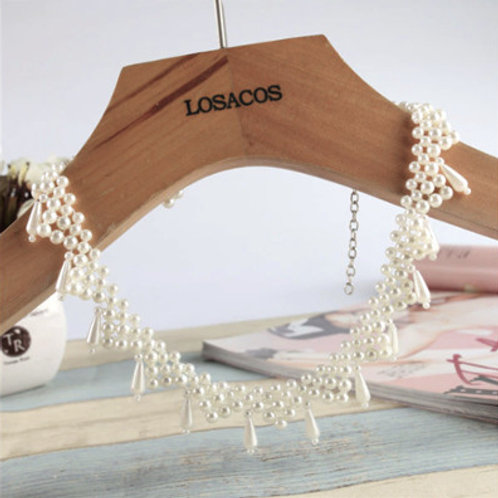 Triangle Pearl Collar-Necklace^