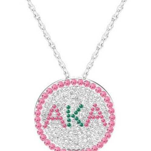 AKA Sparkling Brooch Necklace