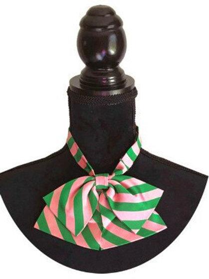 Pink, green stripe.