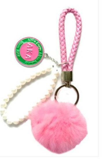 *AKA Puff Braided Wristlet Keychain