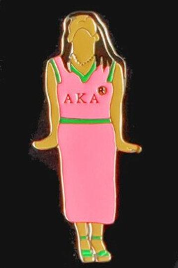 AKA Pink Stance Soror Pin-AKA Greek