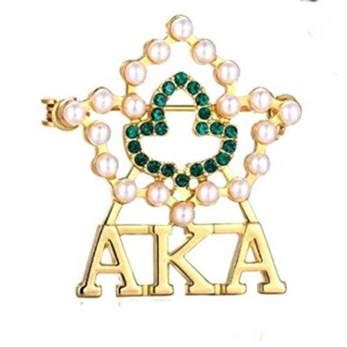 AKA 20 Pearls Ivy Brooch-Pin