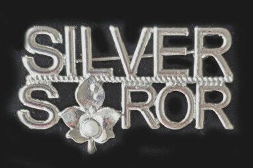 AKA Silver Soror Ivy Pearl Brooch-Pin