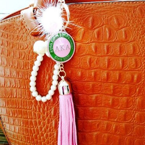 AKA Tassel Charm Keychain
