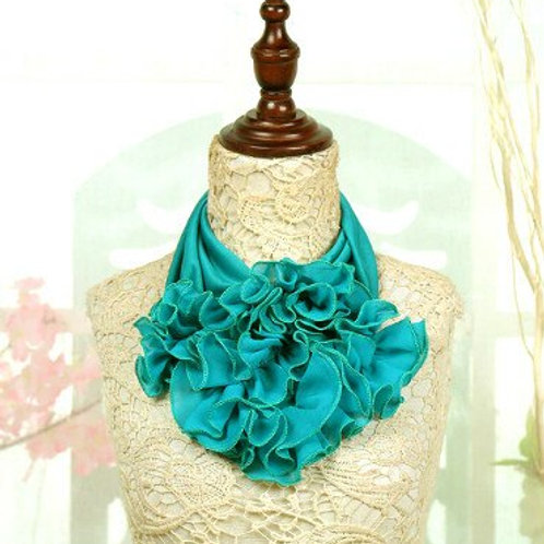Turquoise-green.