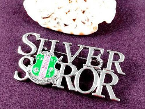 AKA Silver Soror Shield Brooch-Pin