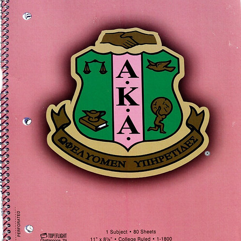 AKA College Lined Notebook AKA Greek