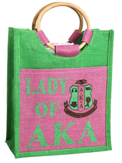 Lady of AKA Mini Jute Bag