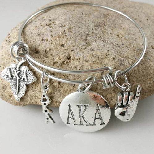 AKA Four Charm Bangle Bracelet^