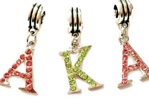 Pink and green crystals AKA letters