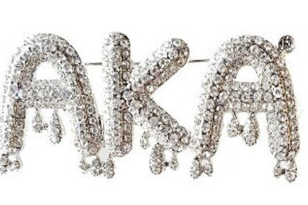 AKA Dripping Crystals Brooch- Pin
