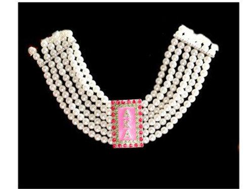 AKA Pendant Pearls Choker Necklace