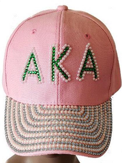 *AKA Pearls Crystals Baseball Cap-Hat
