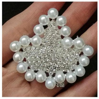 AKA Ivy Pearls Crystals Brooch Pin