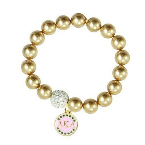 AKA Gold Beads Stretch Bracelet