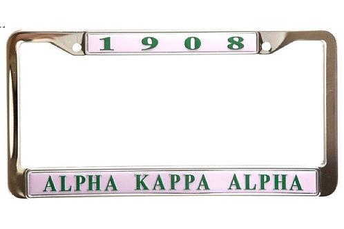 AKA Pink Metal License Plate Frame