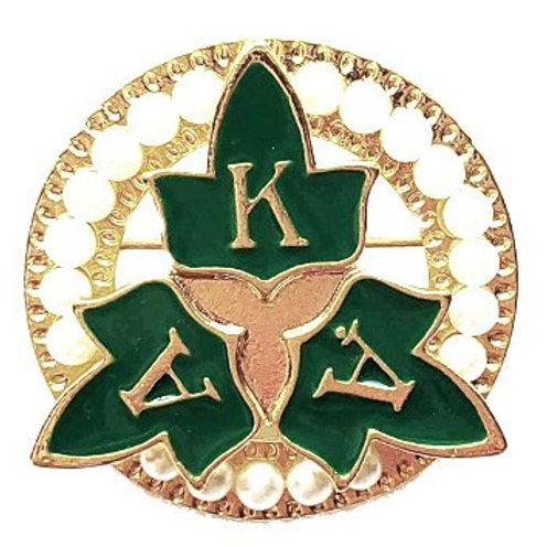 AKA Gold Pearls Ivy Brooch Pin