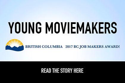 Young Moviemakers wins the 2017 BC Job Makers Award