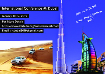 International Conference @ Dubai Jan 08-09, 2021
