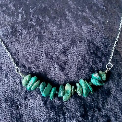 Genuine Turquoise Slice Necklace