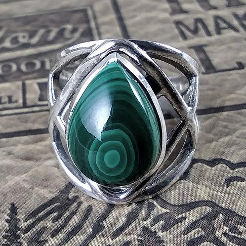 Malachite Sterling Ring