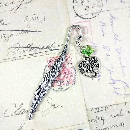 Heart Tree of Life & Crystal Butterfly Bookmark
