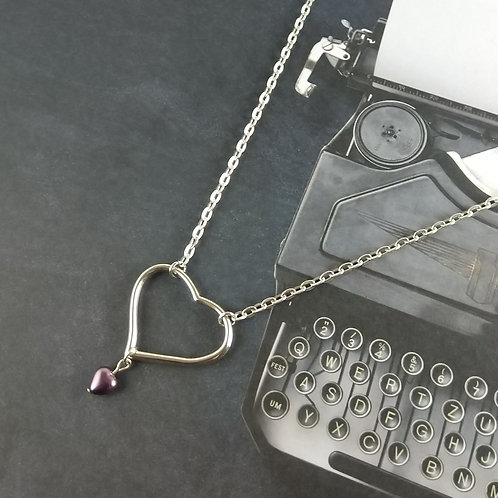 Simple Floating Heart Necklace