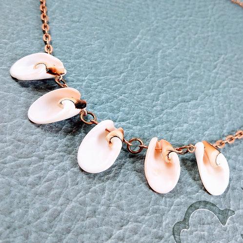 Peach Shell Copper Necklace