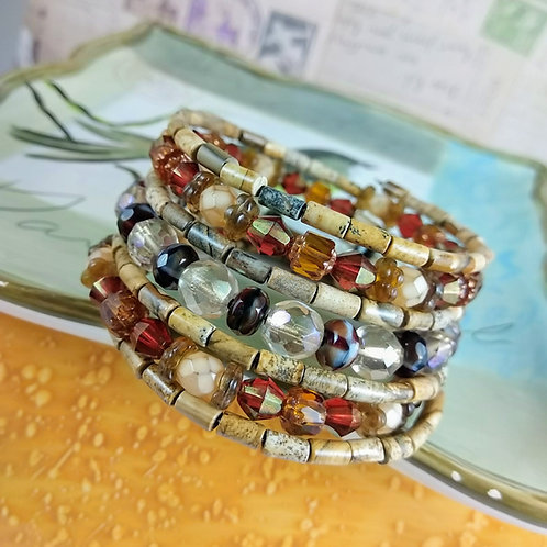 Picture Jasper & More Super Wrap Bracelet