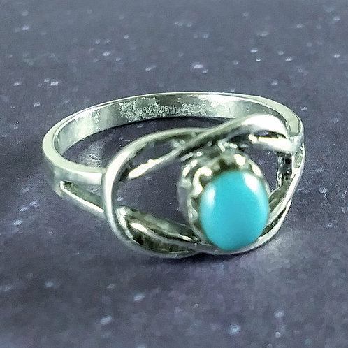 Oval Turquoise Sterling Ring