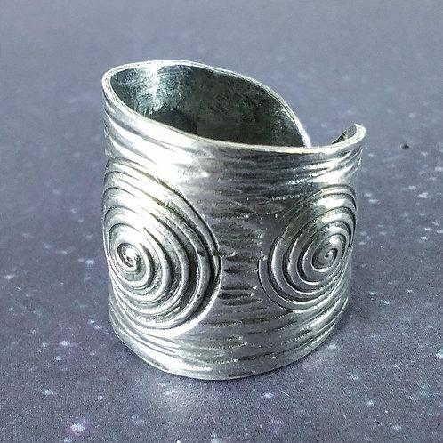 Super Wide Sterling Ring