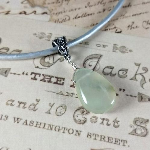 Jade Aventurine Leather Necklace