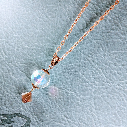 Crystal Orb Copper Necklace