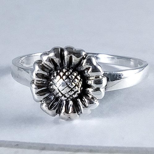 Sunflower Sterling Ring