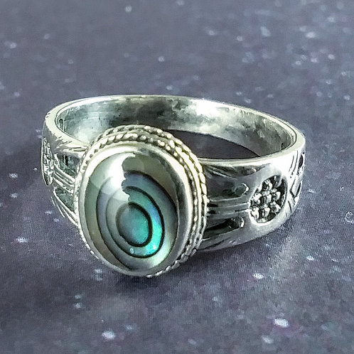 Abalone Sterling Ring