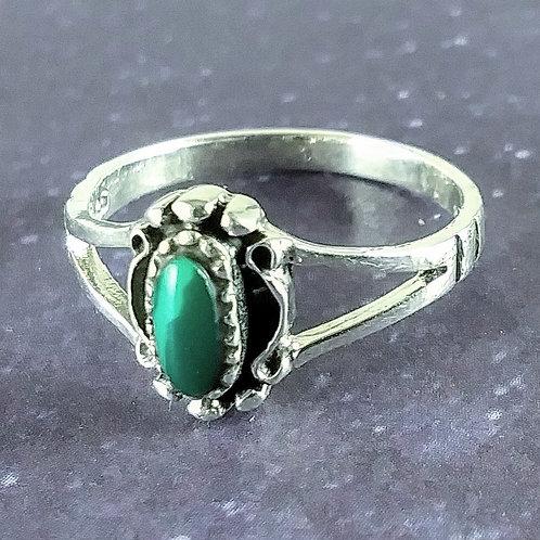 Sweet Malachite Sterling Ring
